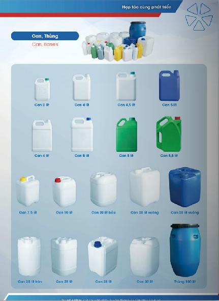 Can, thùng nhựa