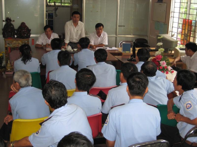 Các buổi học thêm về kỹ năng trong công tác bảo vệ