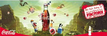 In quảng cáo Cocacola