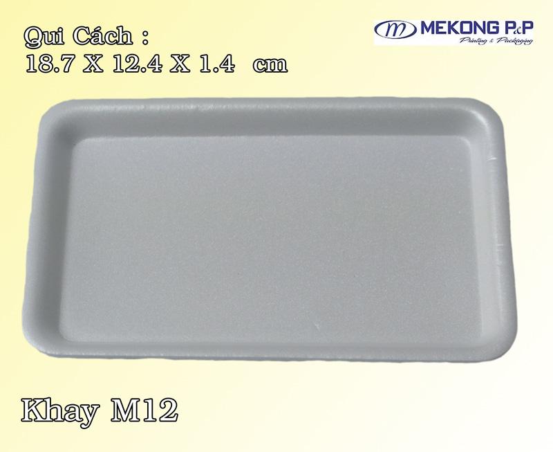 Khay nhựa xốp M12