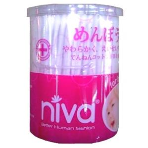 Niva Cotton Tips - AH1 cotton pot (200 sticks)
