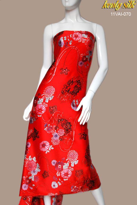 Vải Sa Tanh Tơ Tằm Hoa