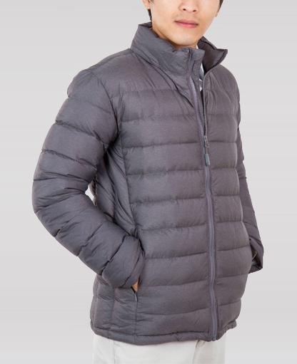 áo jacket lông vũ nam màu nâu