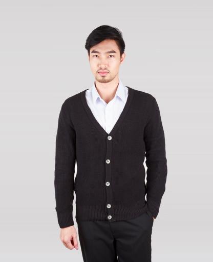 áo khoác nam len đen