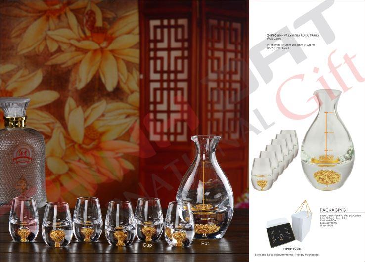 Ly uống rượu đúc vàng FAG-CD02