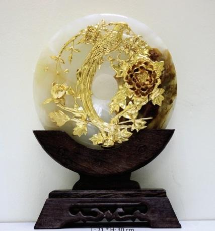 Ngọc biểu trưng mẫu đơn và phượng hoàng