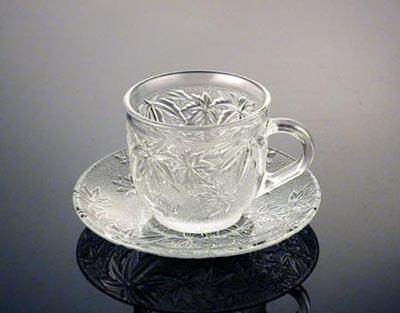 Tách đĩa trà hoa lan