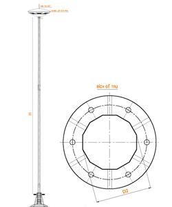 bản vẽ cột đèn pha