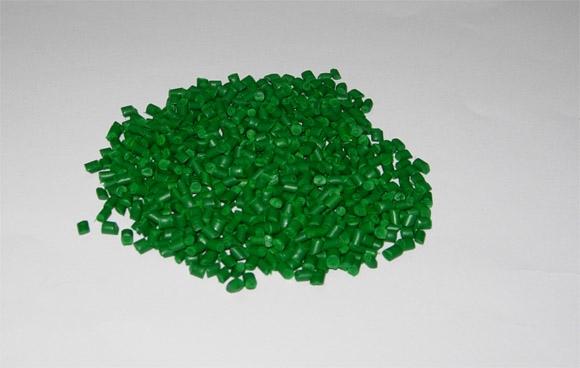Hạt nhựa màu xanh