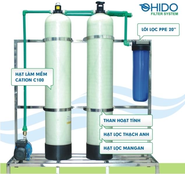 Dây chuyền lọc nước tinh khiết D01