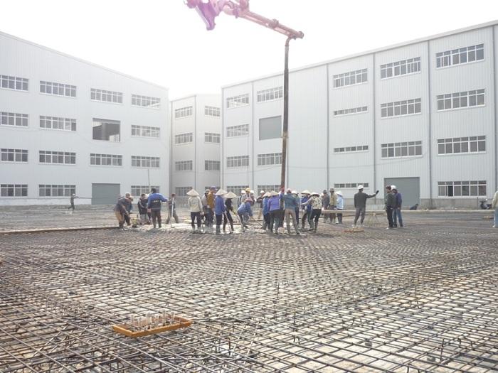Thi công sàn bê tông công nghiệp