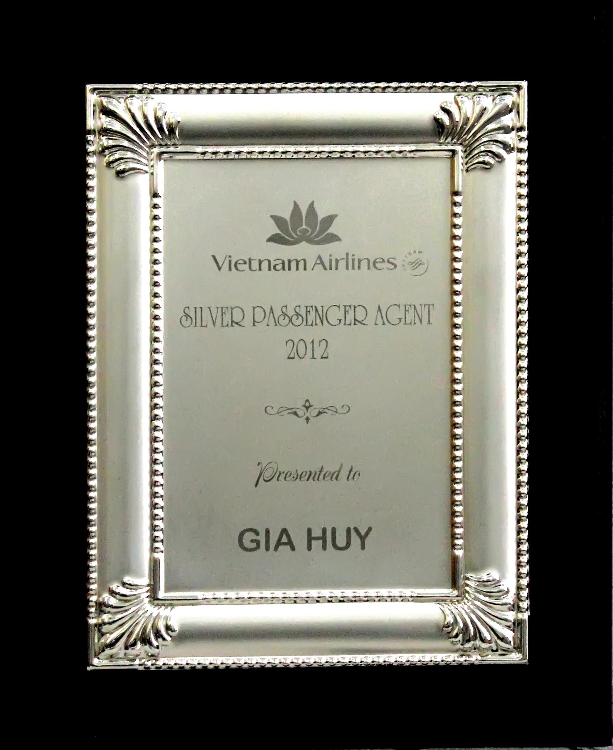 Giải thưởng Bạc - Vietnamairline - năm 2012