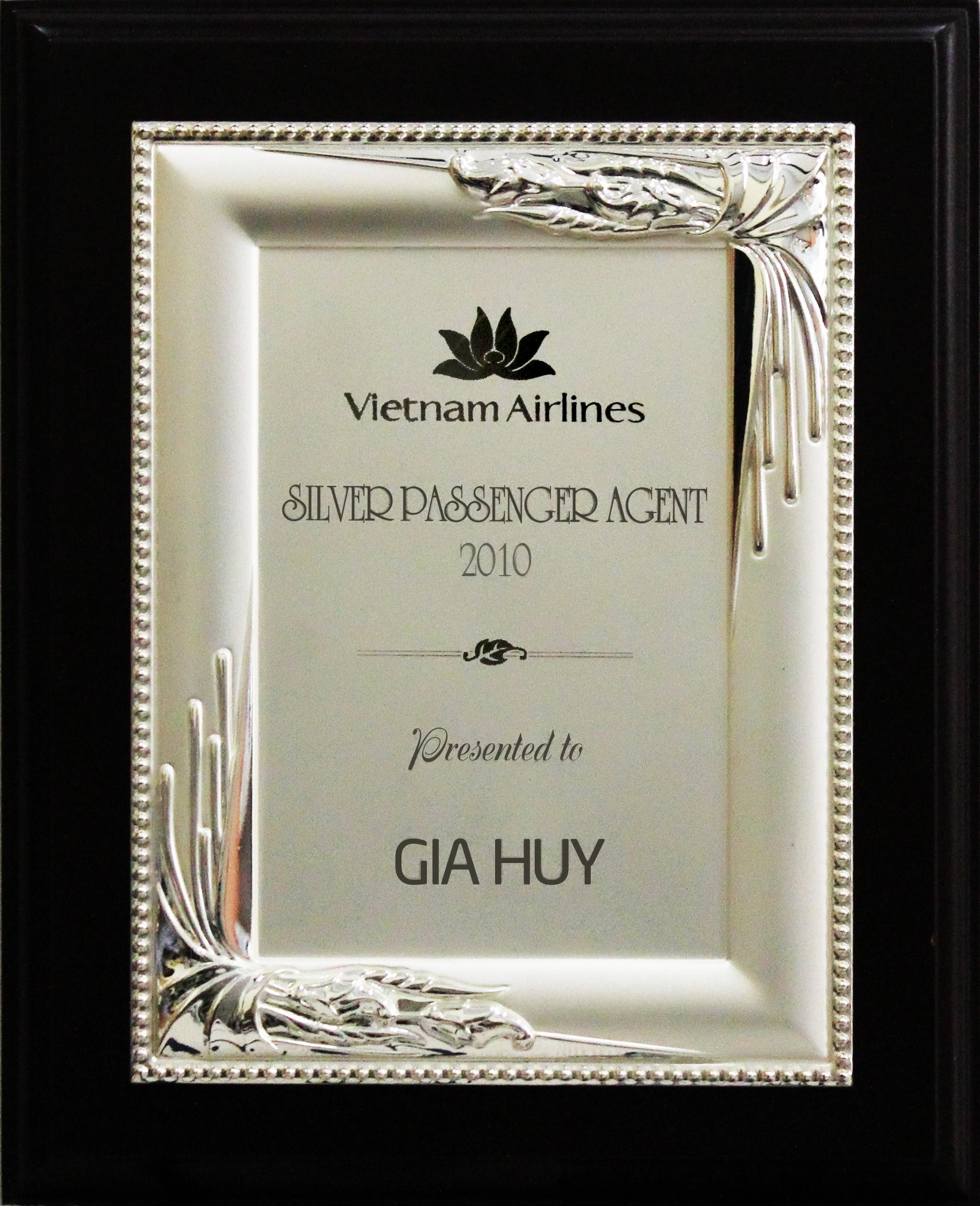 Giải thưởng Bạc - Vietnamairline - năm 2010
