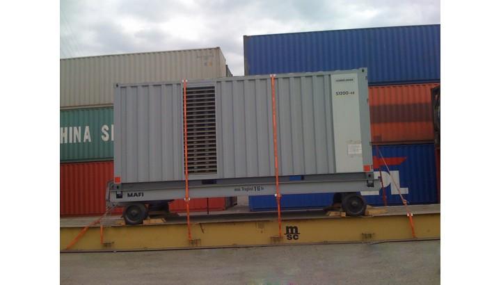 Container máy phát