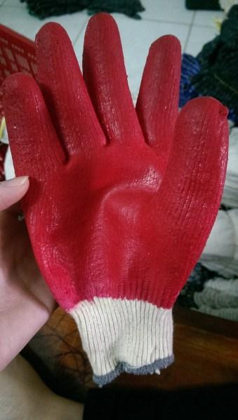 Găng tay len nhúng nhựa