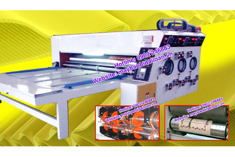 Máy in bán tự động vào giấy bằng dây xích
