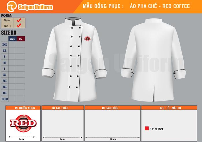 Mẫu áo bếp