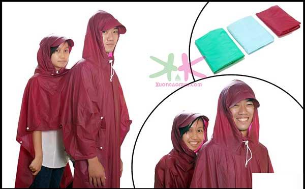 áo mưa 2 mũ siêu bền