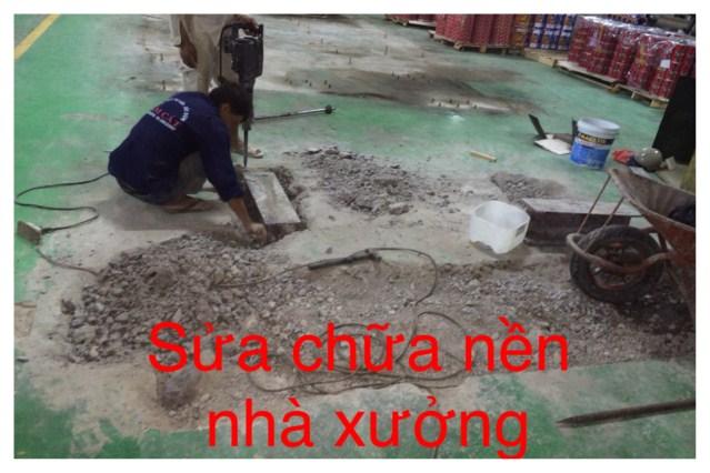 Sửa nền máy nhà xưởng