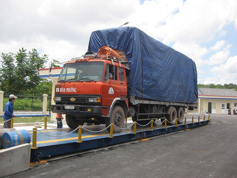 Cân xe tải nổi
