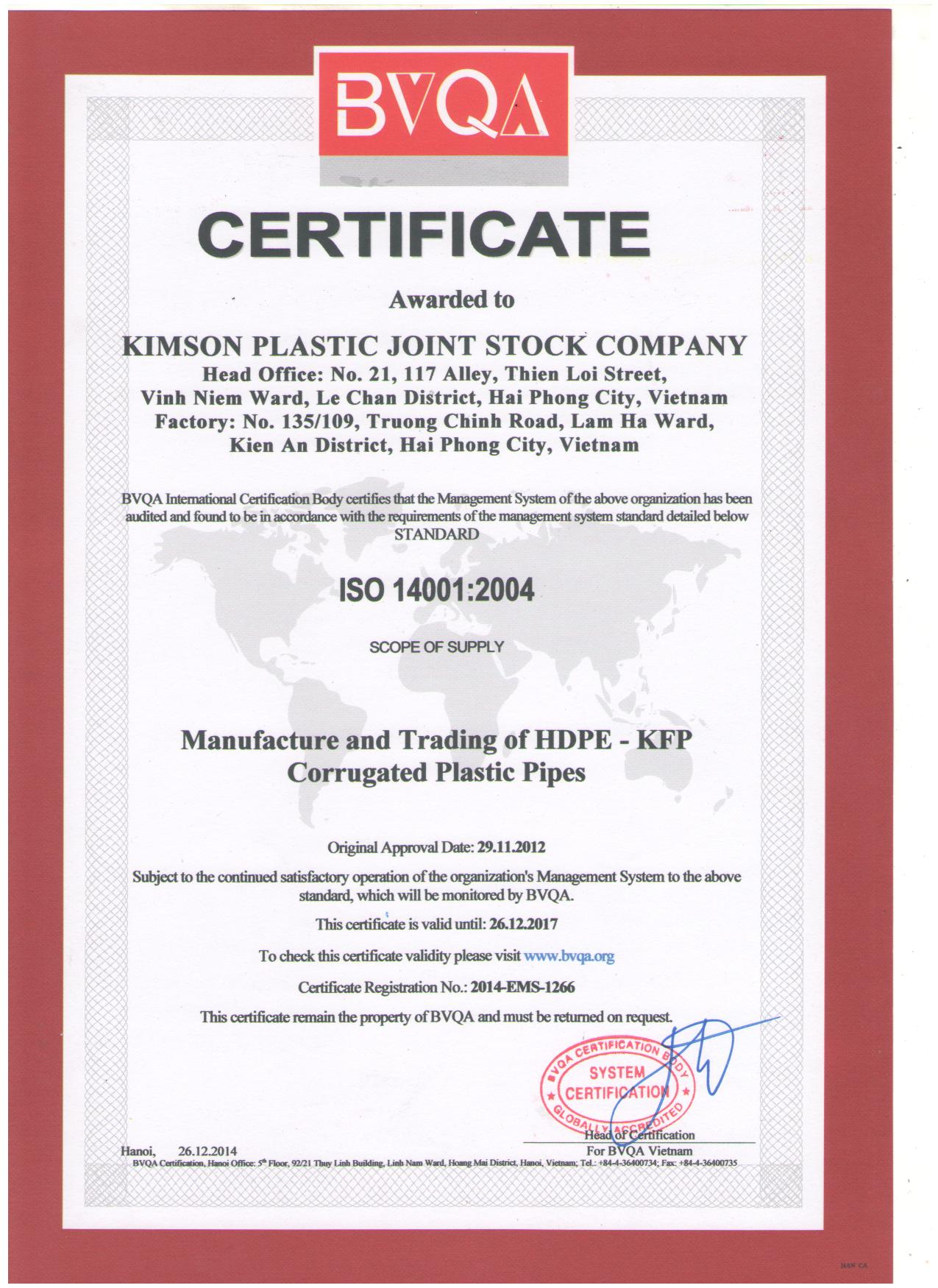 ISO 140001:2004