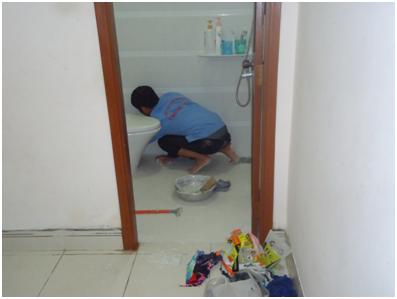 Sử lý thấm nhà vệ sinh không đục phá