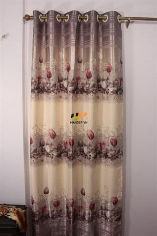 Rèm vải gấm lụa Print