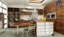 Tủ bếp gỗ tự nhiên óc chó