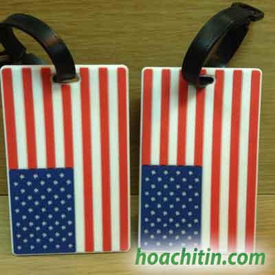 Thẻ đeo hành lý lá cờ mỹ