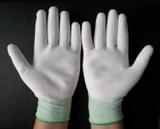 Găng tay trắng  phủ PU cả bàn