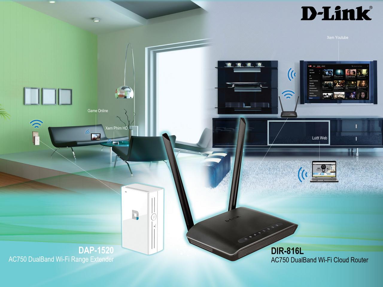 Lắp đặt thiết bị mang D-Link