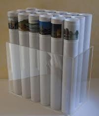 ống giấy trắng