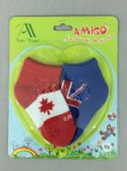 Vớ sơ sinh hộp 3-9T mẫu cờ