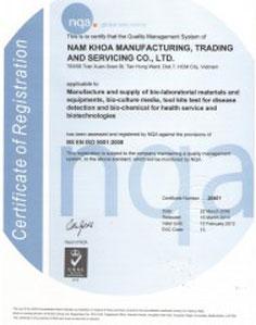 Chứng nhận ISO 2010