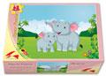 Xếp hình 63 mảnh mẹ con voi