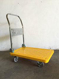 xe đẩy bàn màu vàng