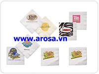 Khăn giấy in logo