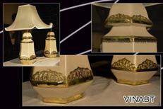 Đèn bàn gốm sứ