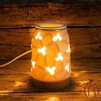 Đèn xông tinh dầu trụ đế gỗ