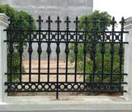 Hàng rào gang đúc