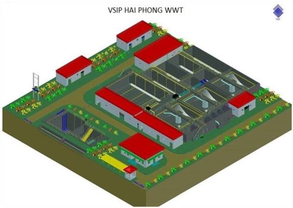 Hệ thống xử lý nước thải KCN V SIP Hải Phòng