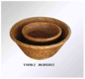 Rattan ware vase