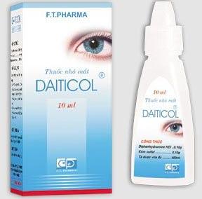 Bao bì thuốc nhỏ mắt Daiticol