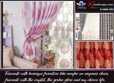 Rèm vải phong cách Châu Âu