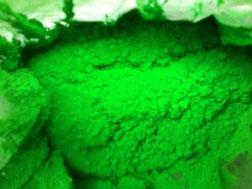 Bột màu xanh lá dạ quang
