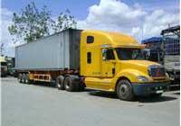 Đầu kéo container thùng kín