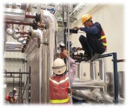 Thi công cách nhiệt nóng cho ống