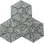 Gạch 3 lá lục giác xám
