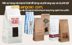Túi giấy Kraft đựng cà phê