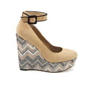 Carly Nude Kidsuede Wedges